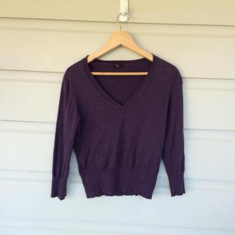 Aubergine V-neck sweater by Aussie brand Cue